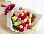 母の日 花キューピット カラフルなカーネーションの花束